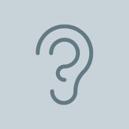 icoon van een oor
