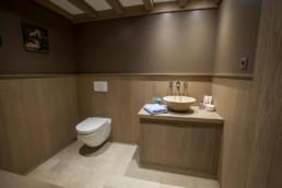 foto van toilet en lavabo in Wellness ruimte