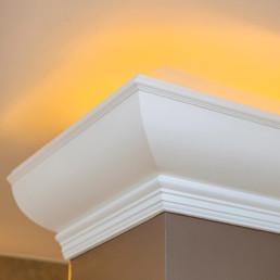 detail van lichteffect op plafond